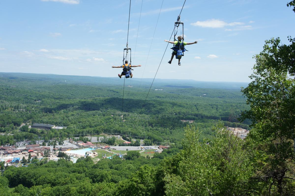 Zip Line Fun in the Pocono Mountains