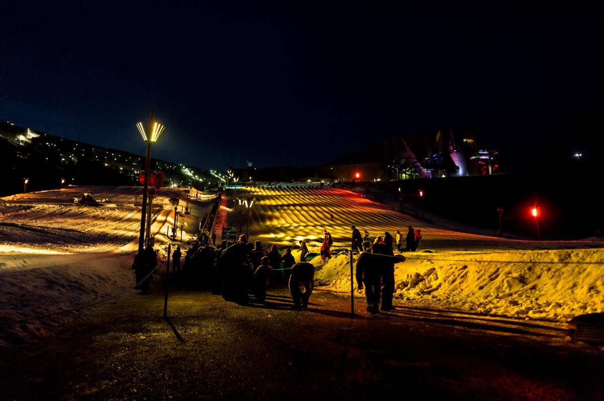 Galactic Snow Tubing at Camelback Resort