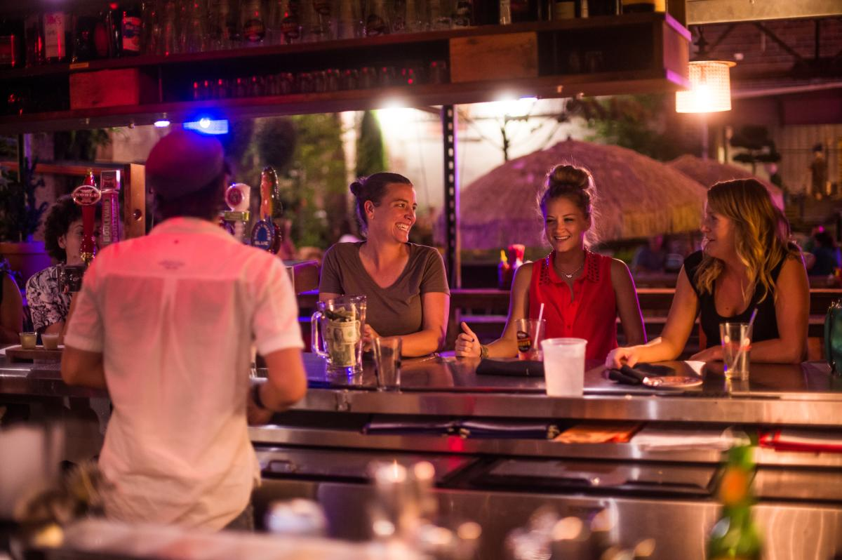 The South Slope District offers great nightlife in Asheville