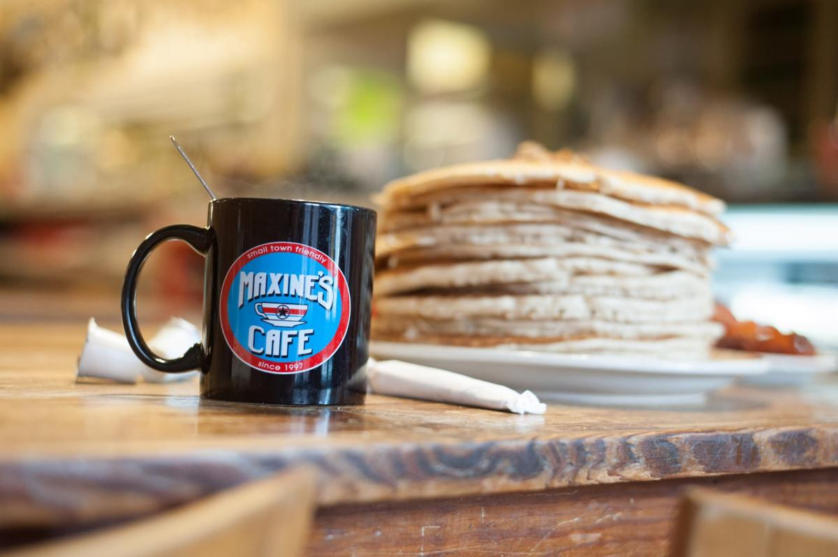 Maxine's Cafe Coffee Mug & Pancakes