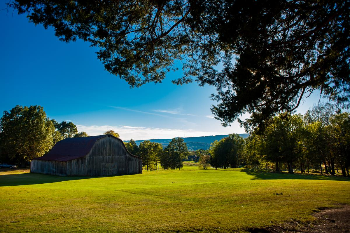 Barn at the Hampton Cove Golf Course in Huntsville