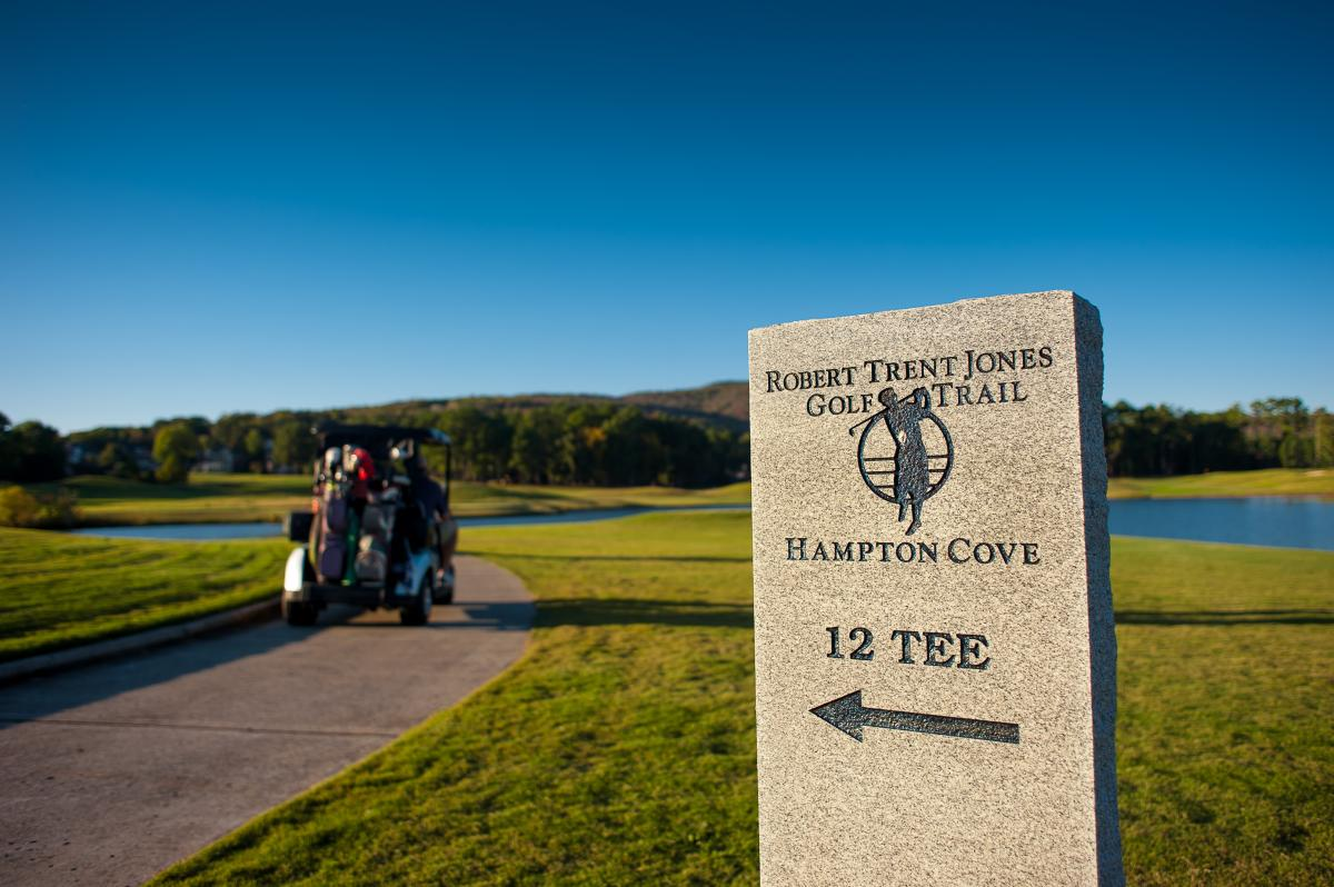 12th tee at Hampton Cove on the Robert Trent Jones golf trail
