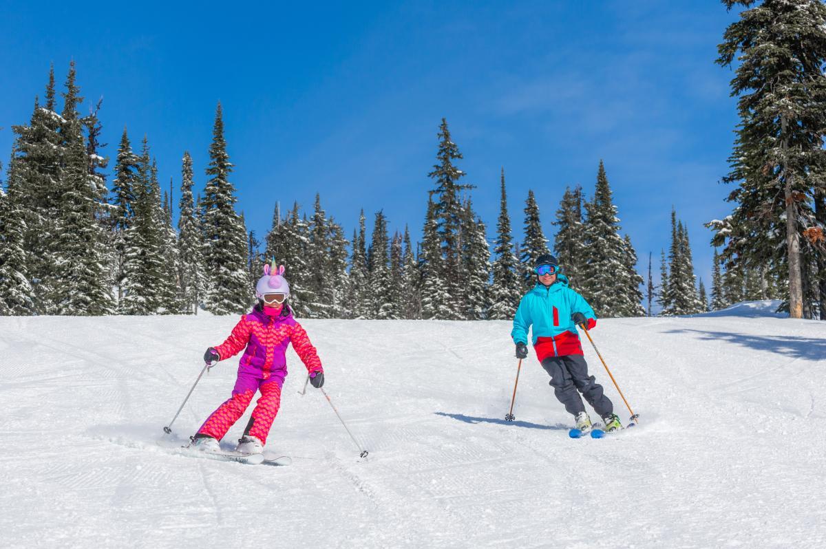 Family Skiing at Big White