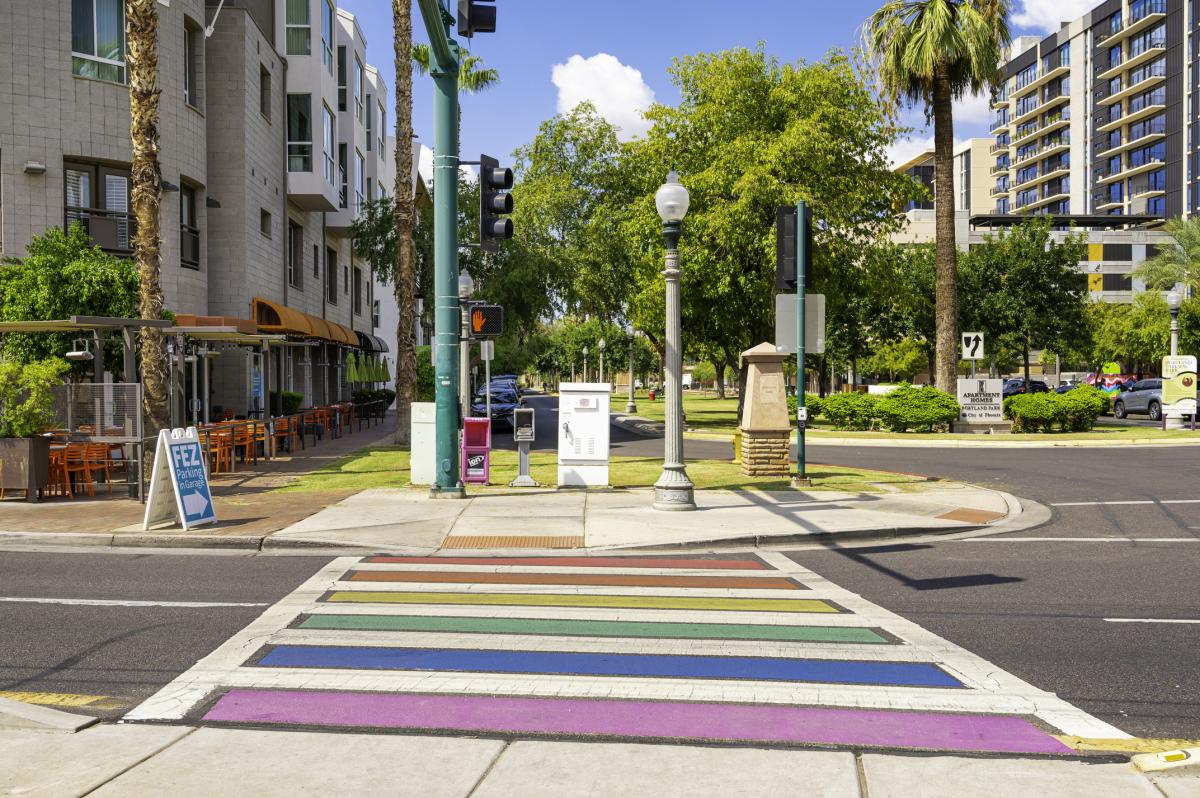 Rainbow Crosswalk - Downtown Phoenix