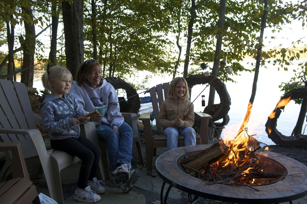 Gather with family by the campfire