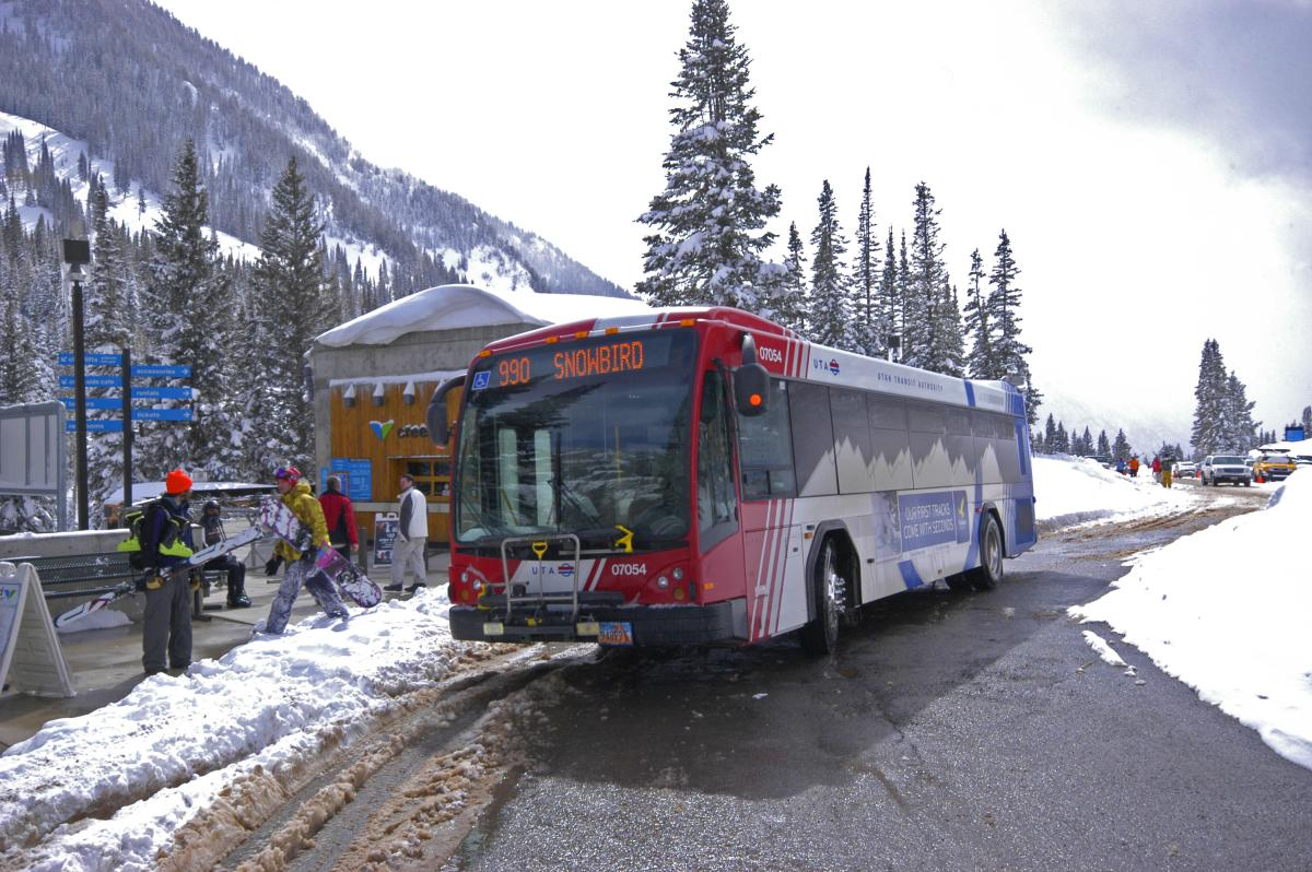 Hop a ride on a UTA Ski Bus and never worry about parking spots again