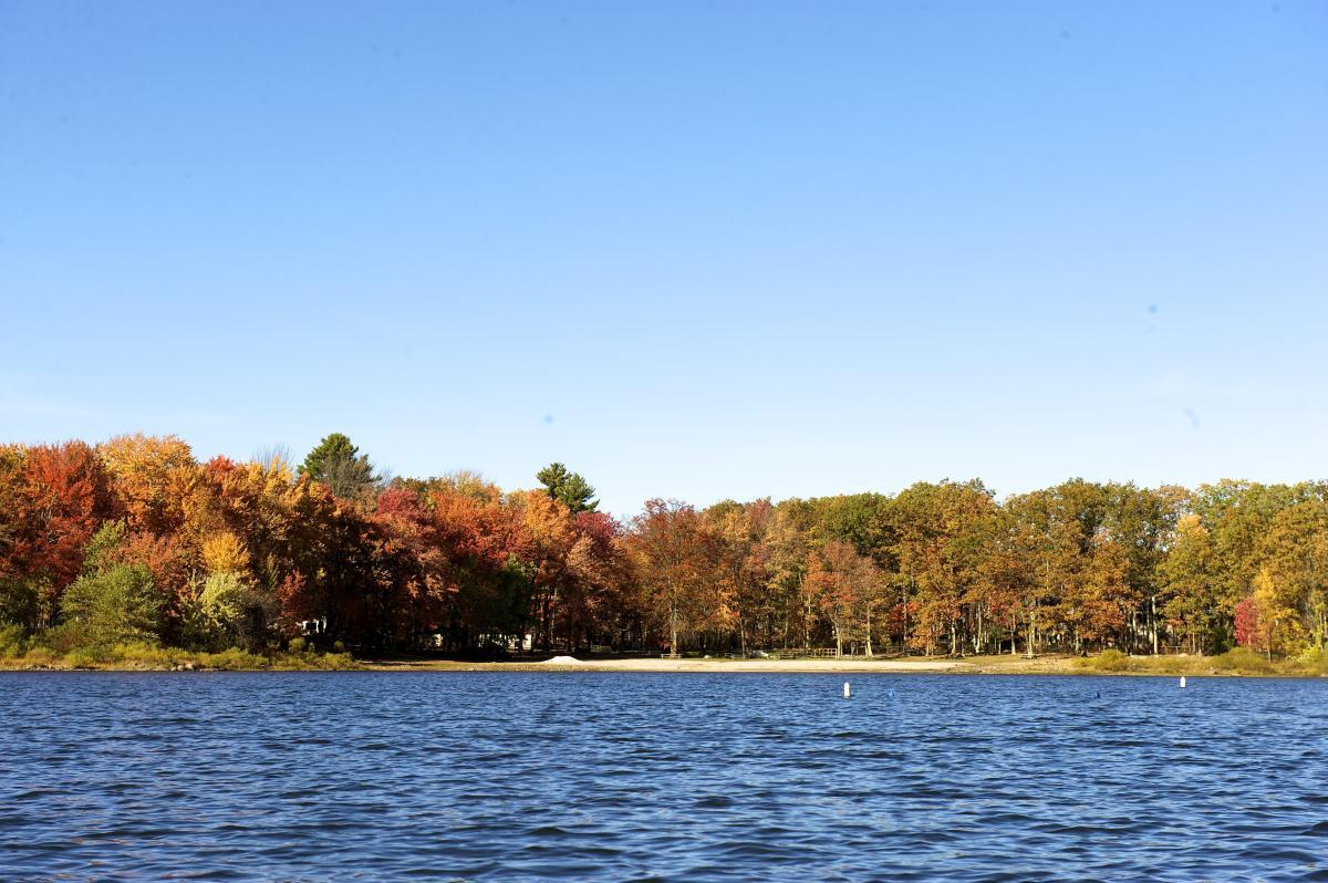 Fall Foliage Around Lake Wallenpaupack in the Pocono Mountains