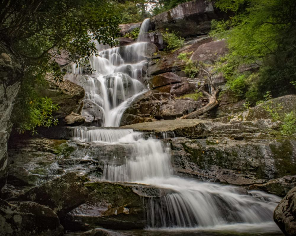 Ramsey Cascades is located on Mt. Guyot in the Great Smoky Mountains.
