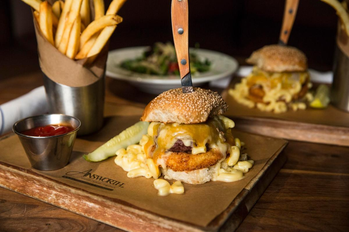 Mac & Cheese Burger from The Ainsworth in Newark, NJ