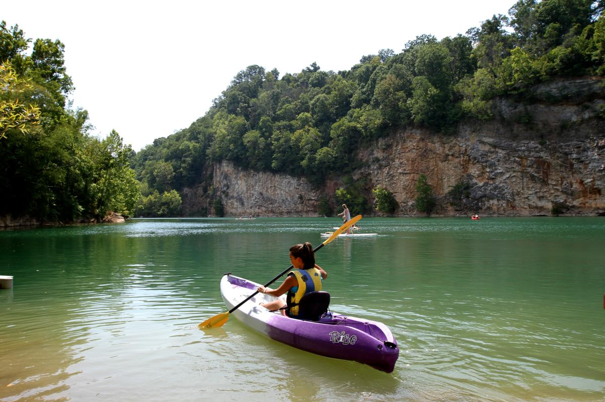 Kayaking in Ijams Quarry