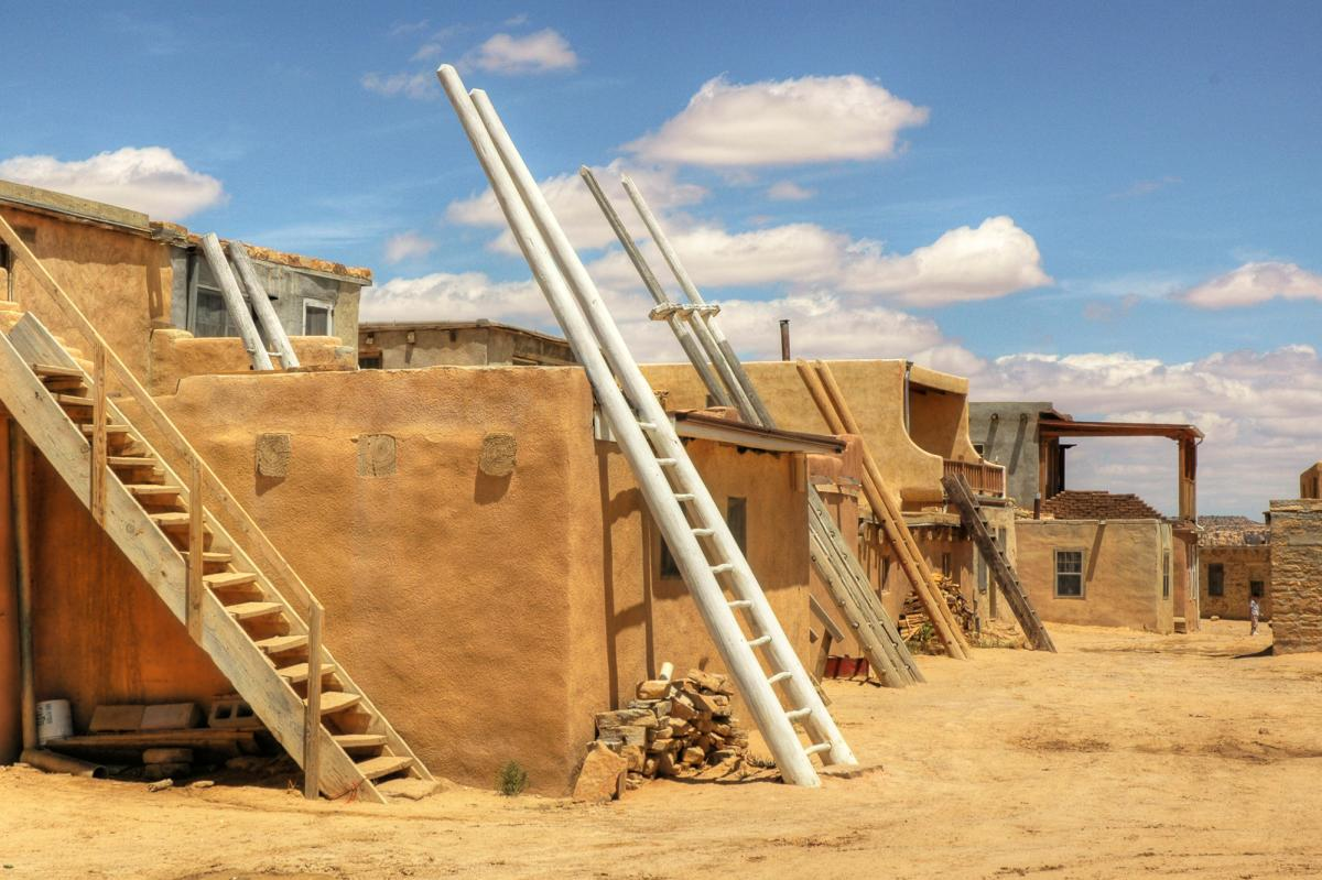 Acoma Street with ladders