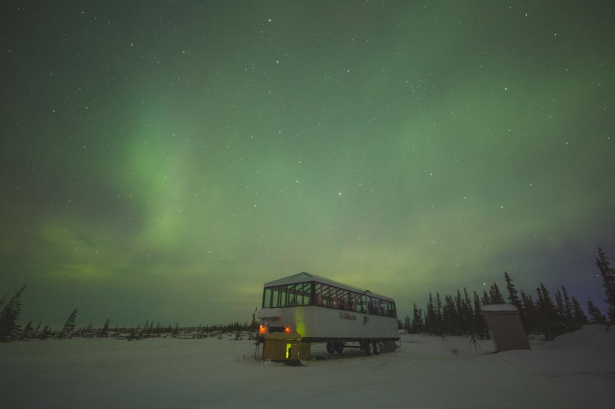 Viewing Northern Lights in the Aurora Pod, Churchill
