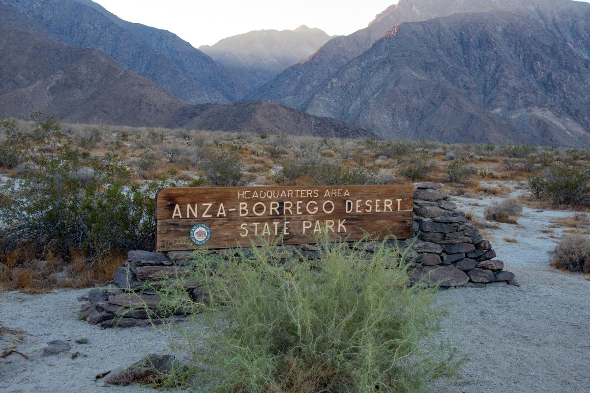 Anza-Borrego State Park Sign