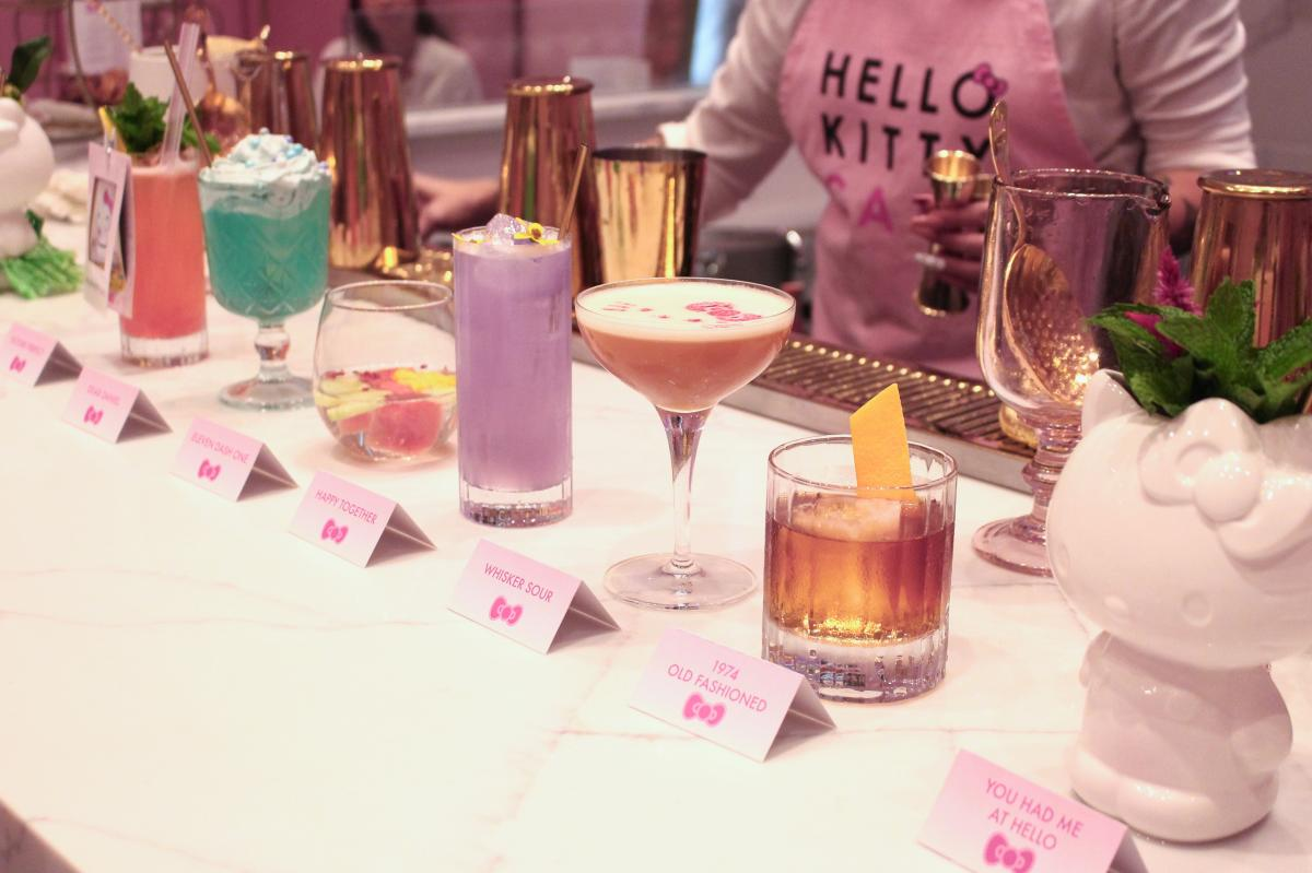 Cocktails at Hello Kitty Cafe