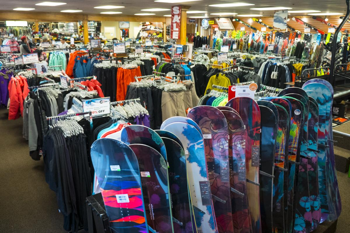 Ski N See has a wide selection of outerwear and accessories, too.