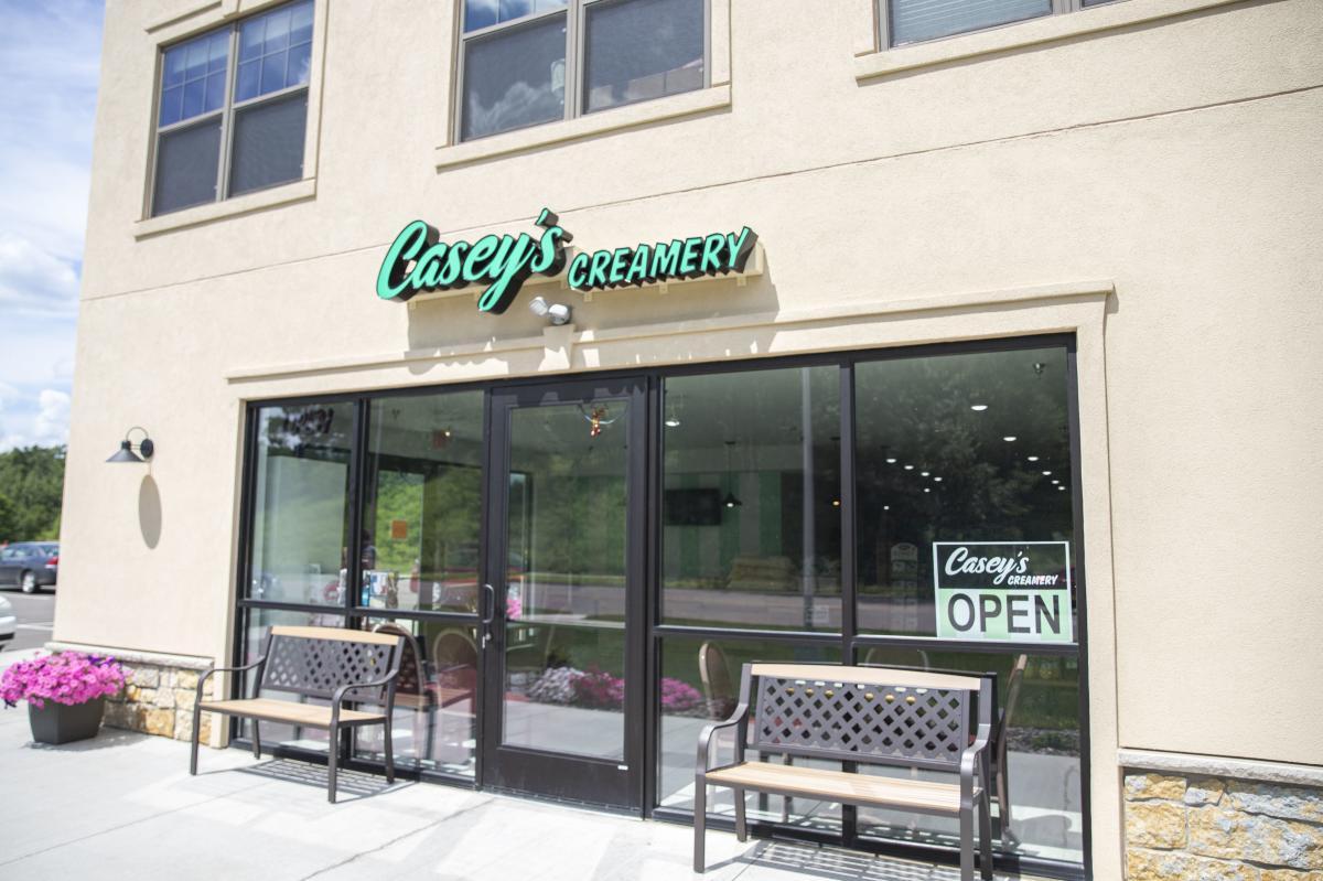 Exterior of Casey's Creamery