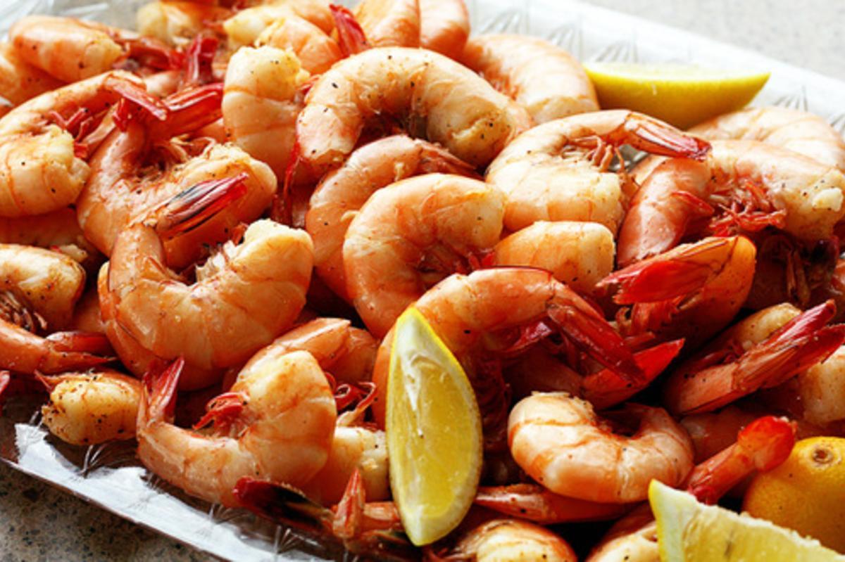 Wild Georgia Shrimp at Iguanas Seafood Restaurant on St. Simons Island, GA