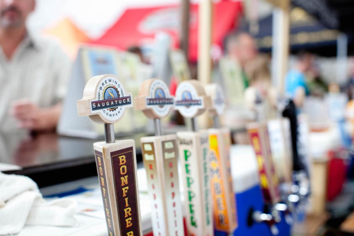 Beer Taps at World Expo of Beer in Frankenmuth, MI