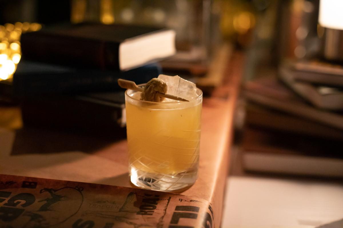 Mezca-Cillen, a mezcal and bourbon cocktail from The Butchershop in the Irvine Marriott