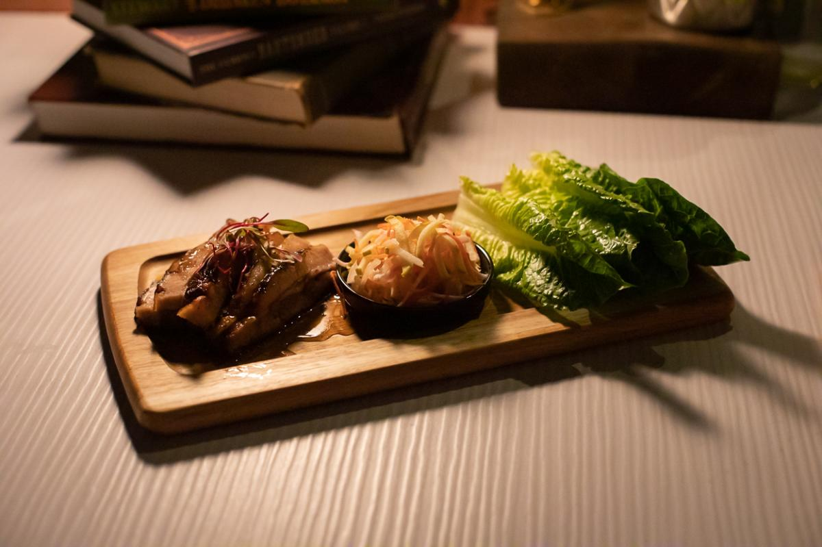 Pork Belly Lettuce Wraps at The Butchershop at the Irvine Marriott