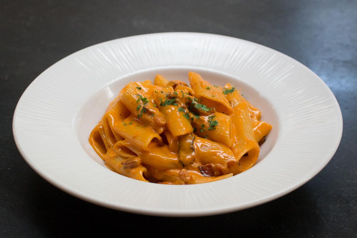 Pasta dish at Il Fornaio in Irvine
