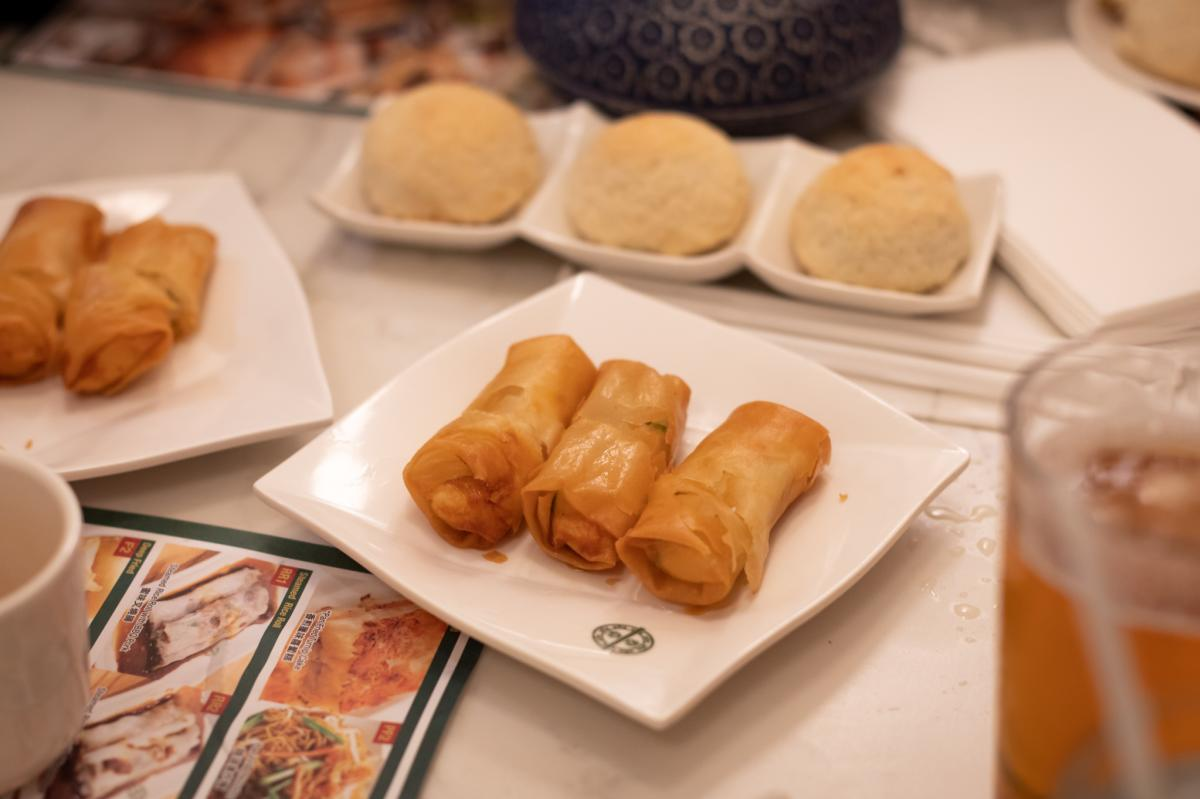 Fried egg rolls at Tim Ho Wan in Irvine
