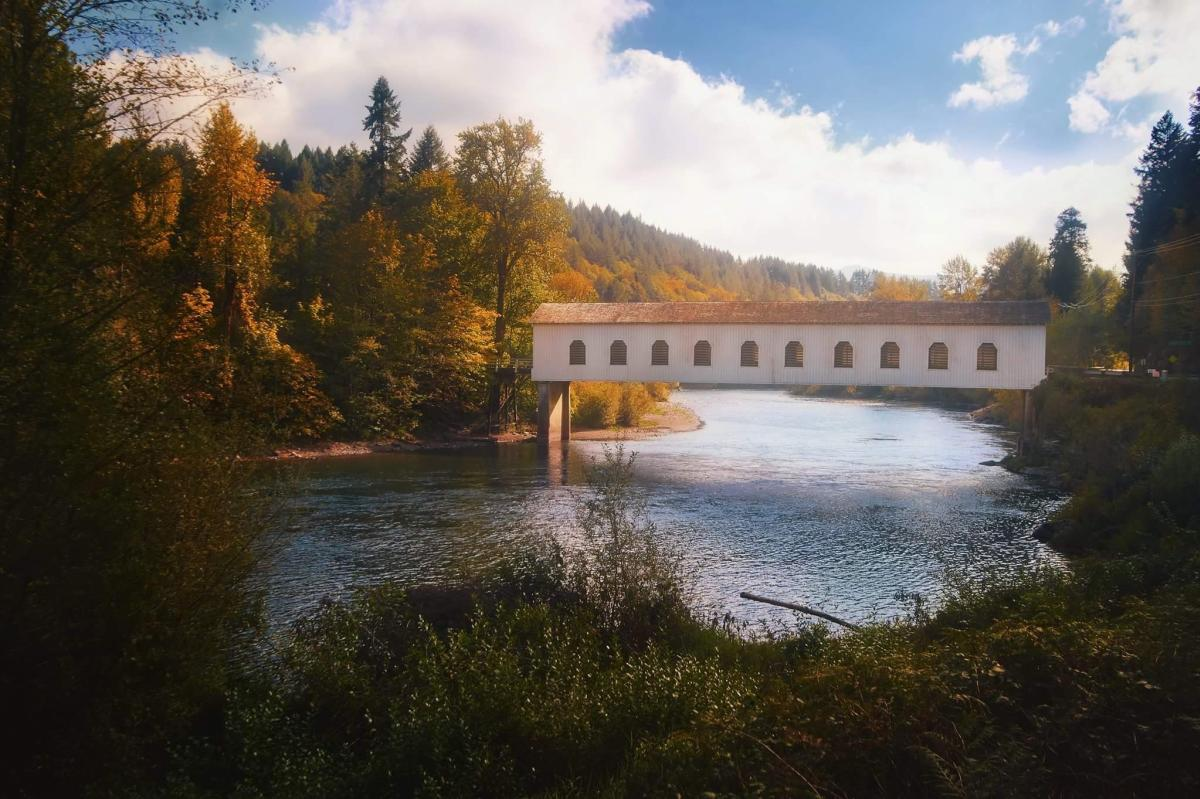 Goodpasture Covered Bridge by TJ Drysdale