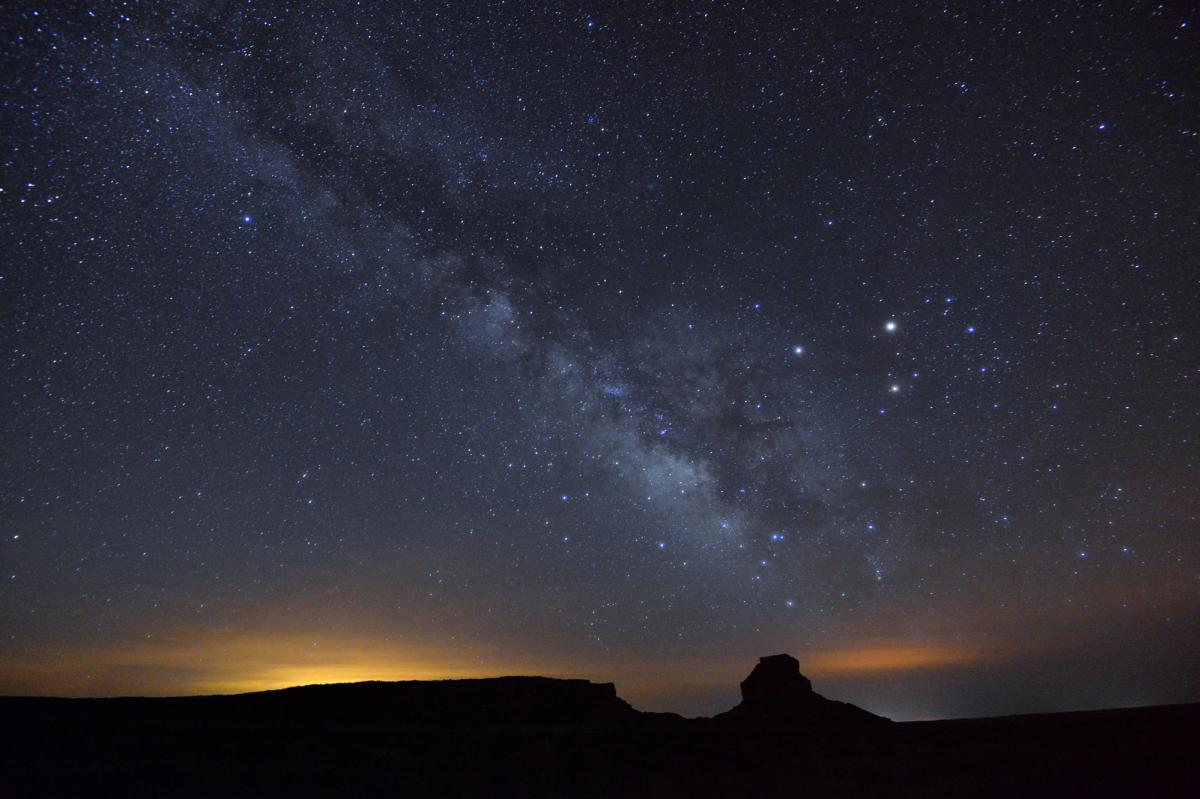 The Milky way from Chaco Canyon