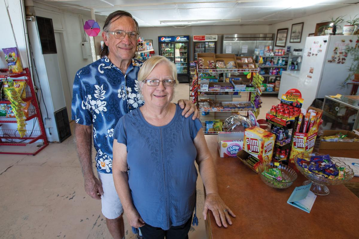 Hachita's only business is a hub for Border Patrol agents, locals like it's previous owners Robert and Bonnie Denzler, and Continental Divide travelers