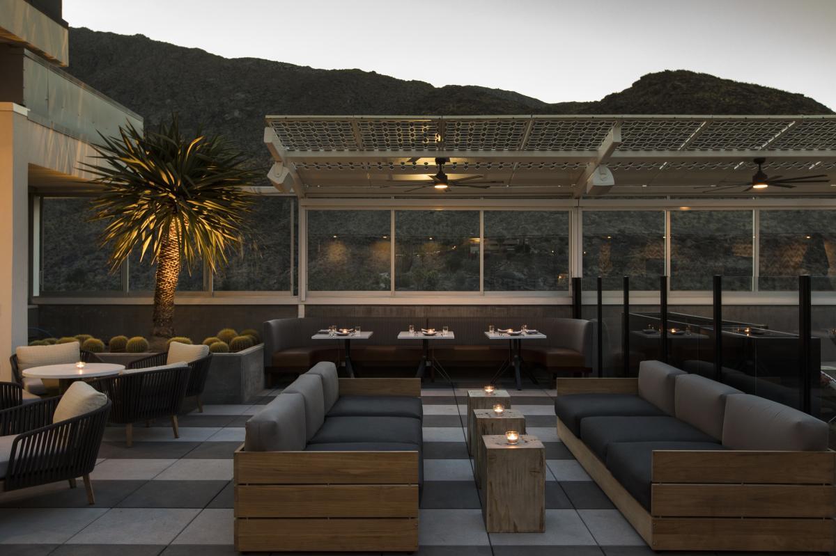 Rooftop patio at Rowan