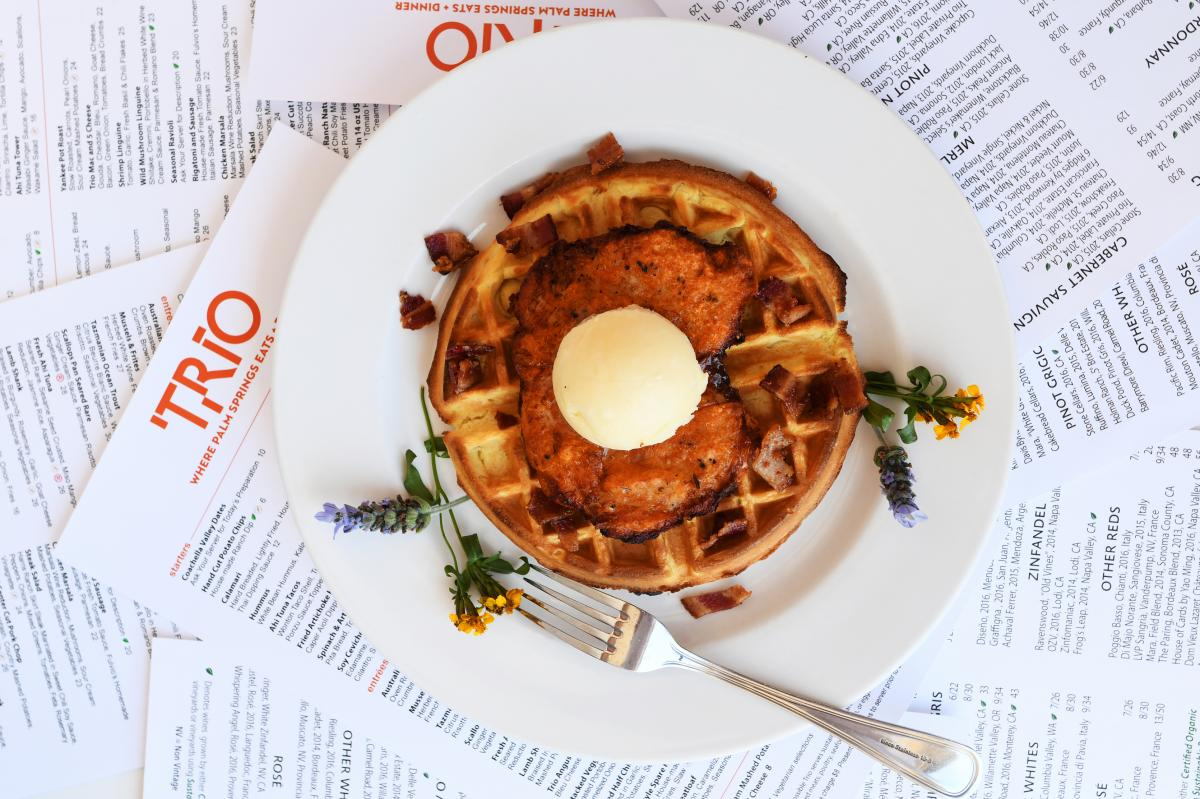 Chicken and Waffle from Trio Palm Springs