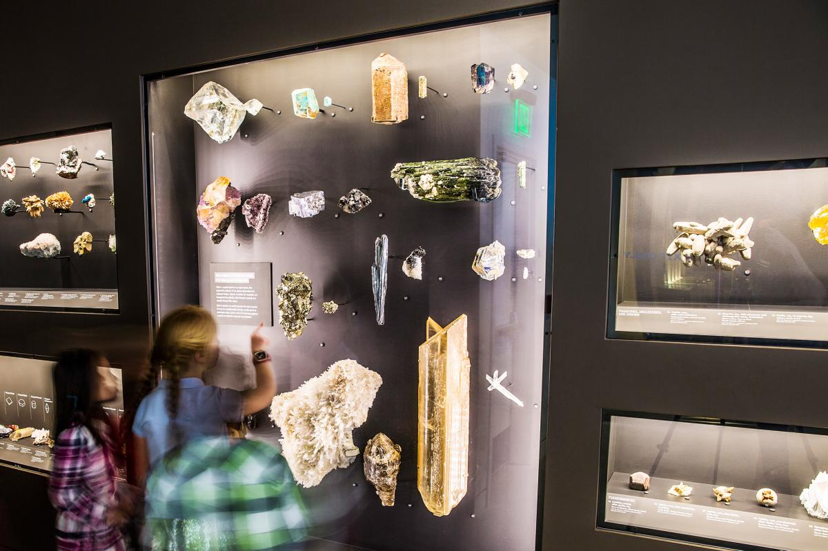 Gems and minerals at The Natural History Museum of Utah