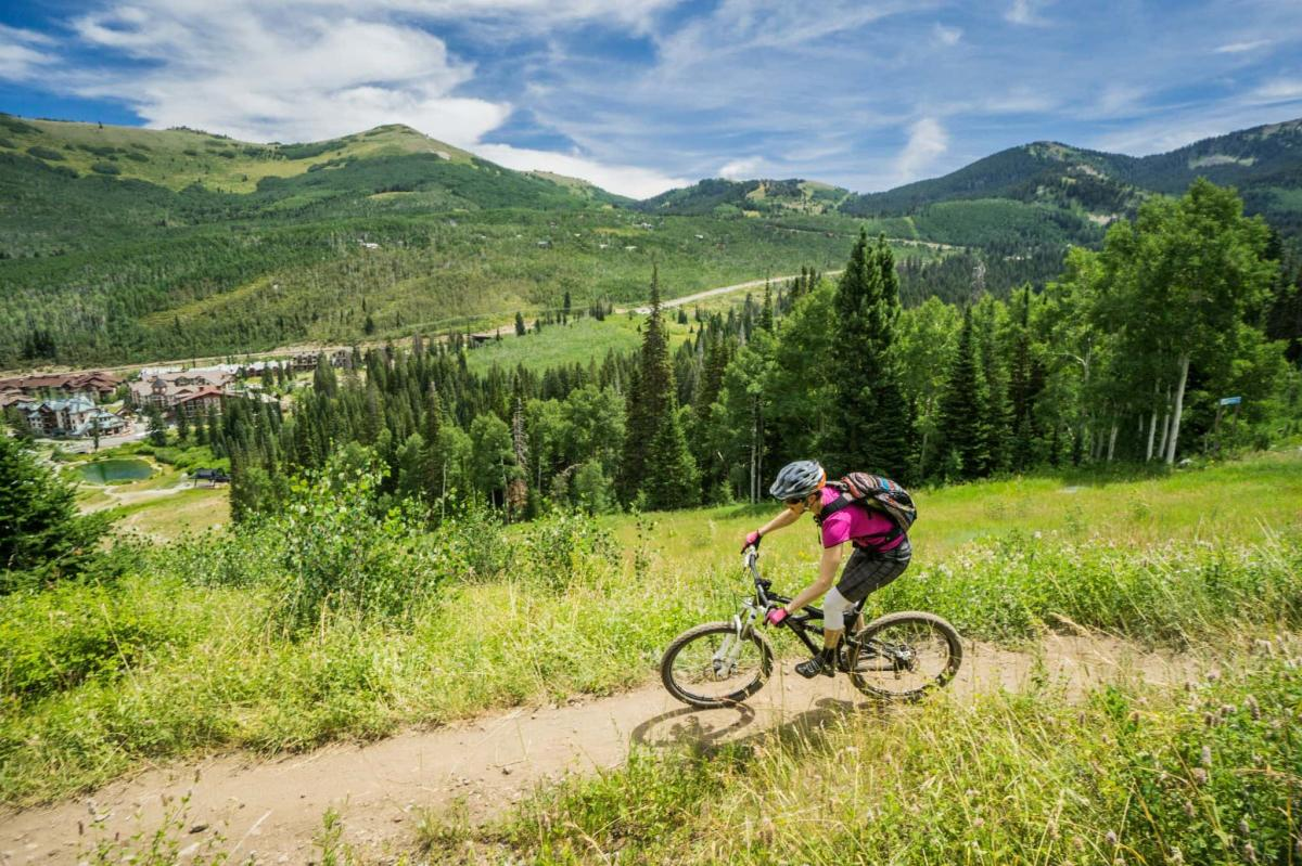 Mountain Bike Ride at Solitude Mountain Resort