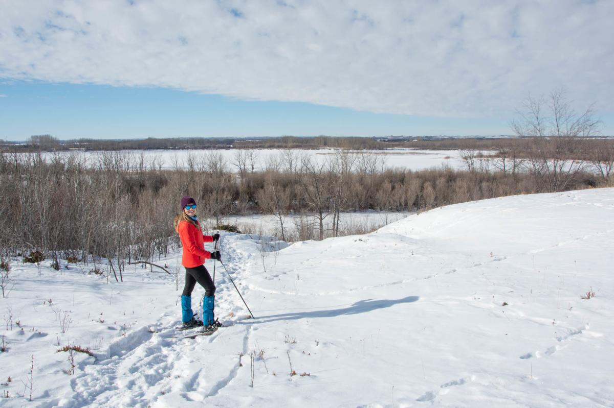 Snowshoeing at Cranberry Flats near Saskatoon, SK