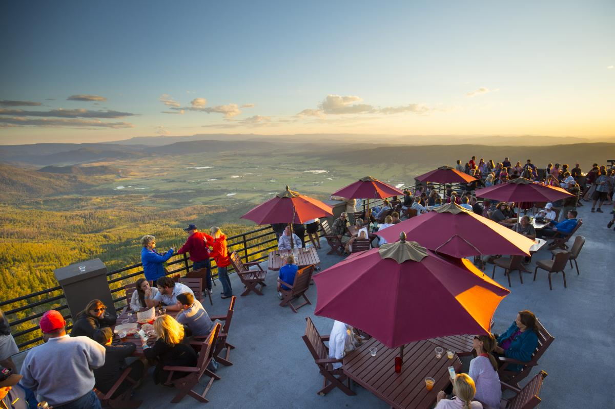 Sunset Happy Hour at the top of Steamboat Resort