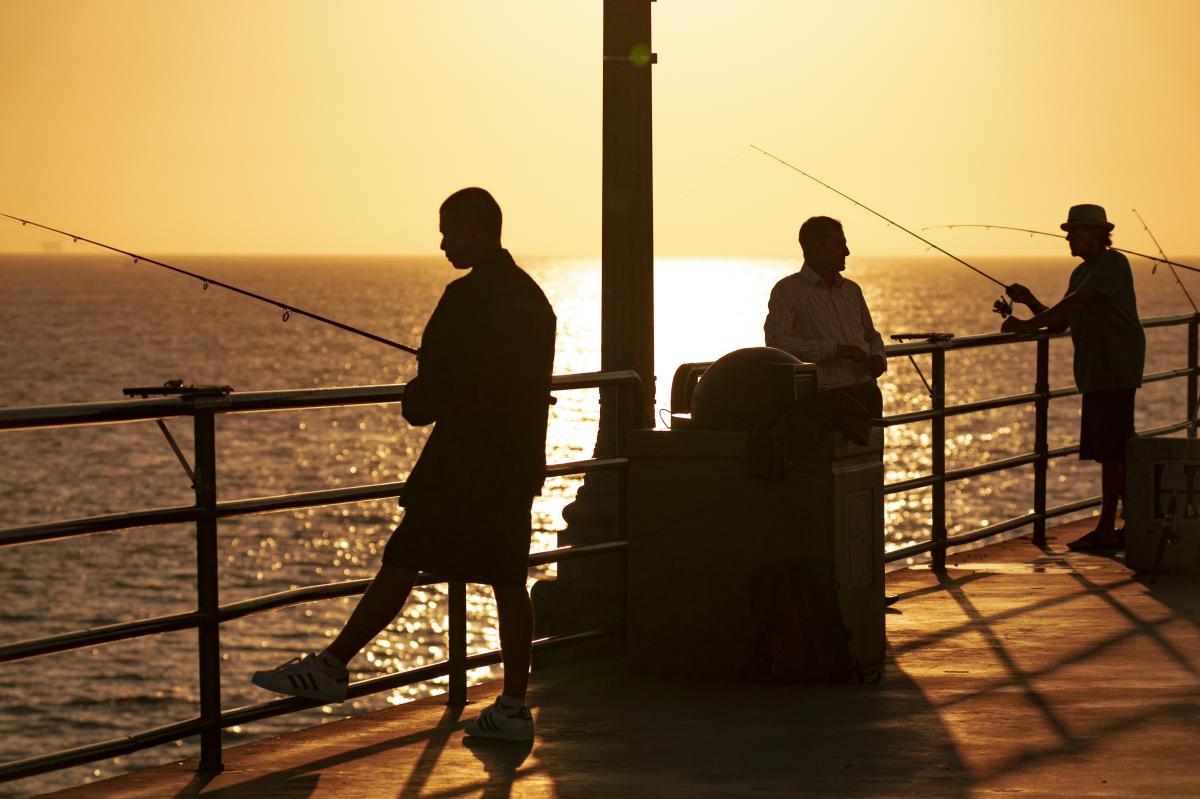 Fishing in Huntington Beach