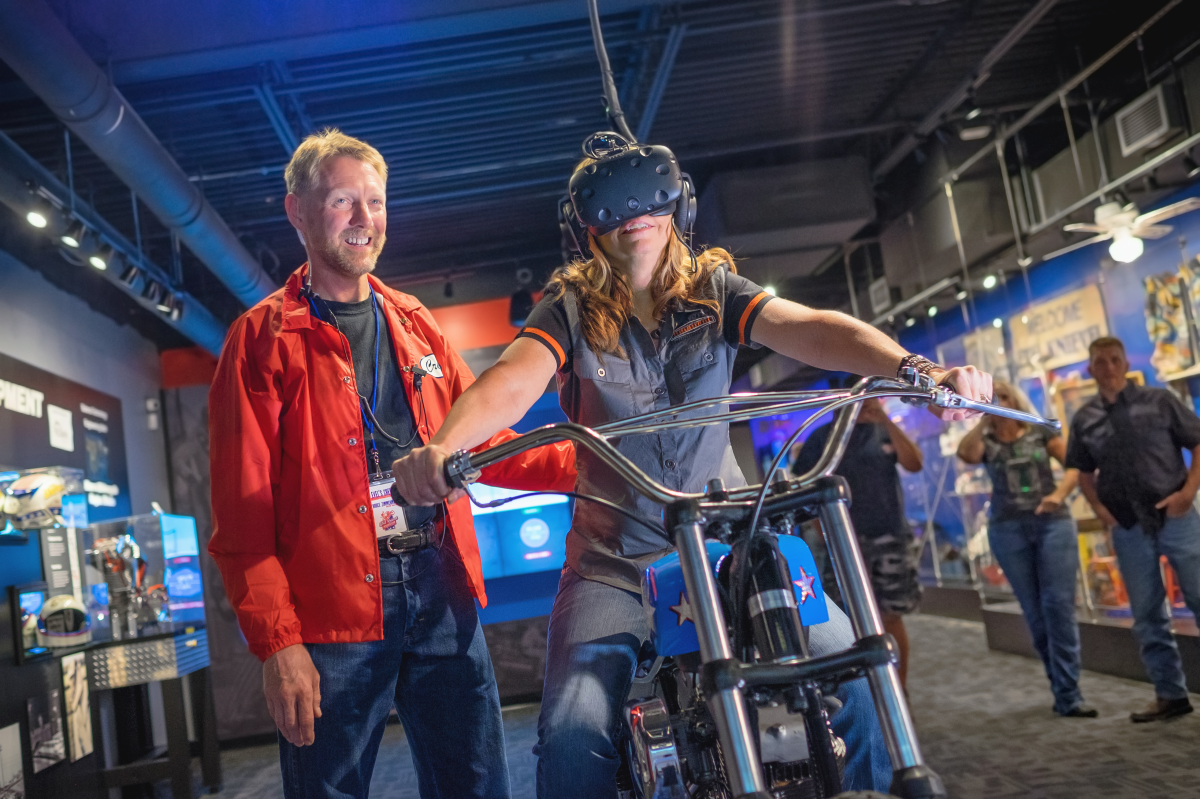 VR experience at Evel Knievel Museum
