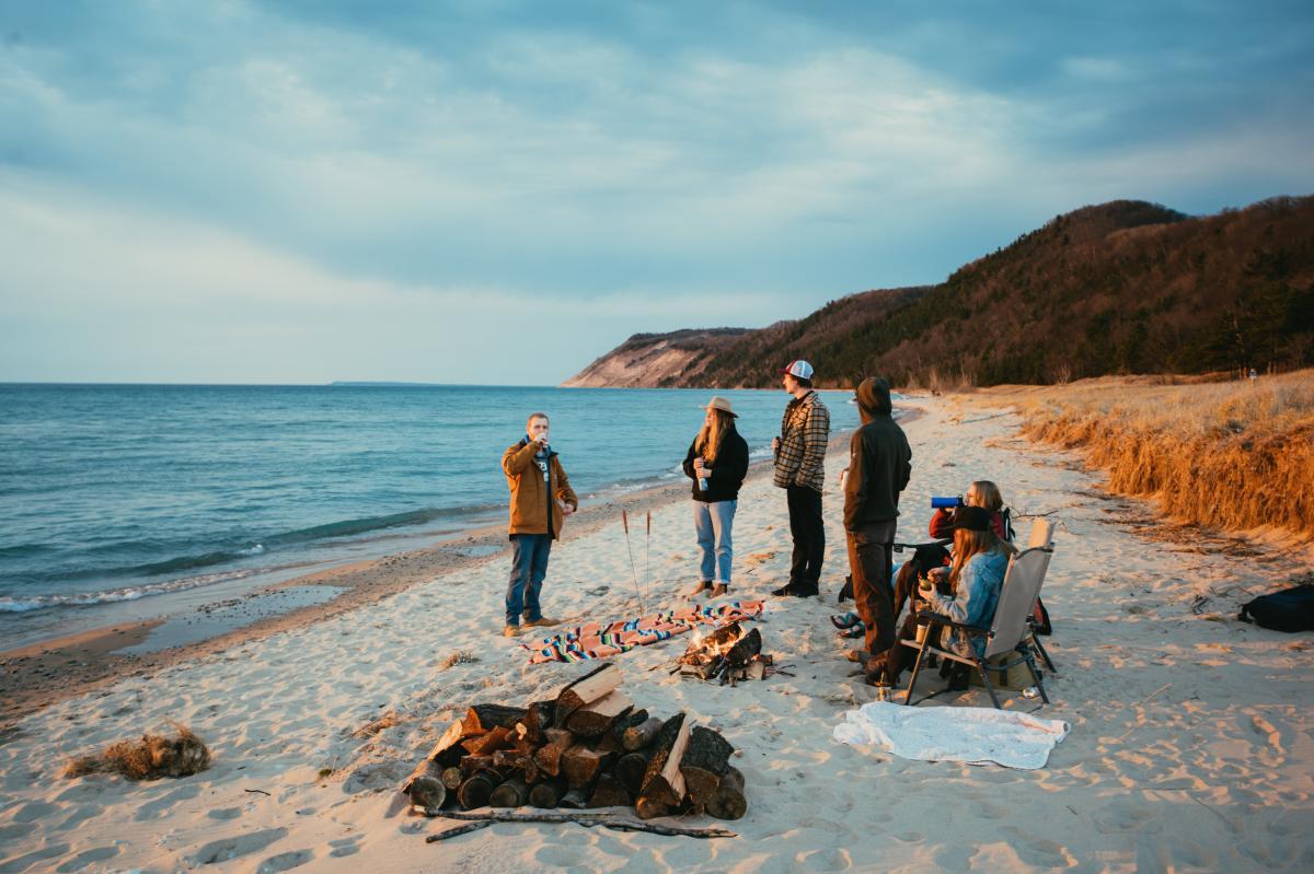 Beach Bonfire on the Sleeping Bear Dunes