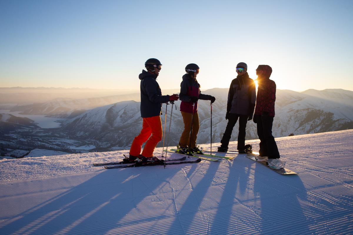 Group of people skiing at Sundance