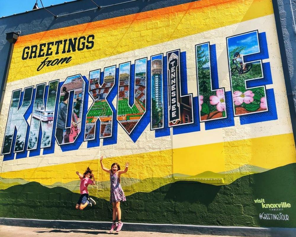 Those Crazy Nelsons at the Greetings from Knoxville Mural