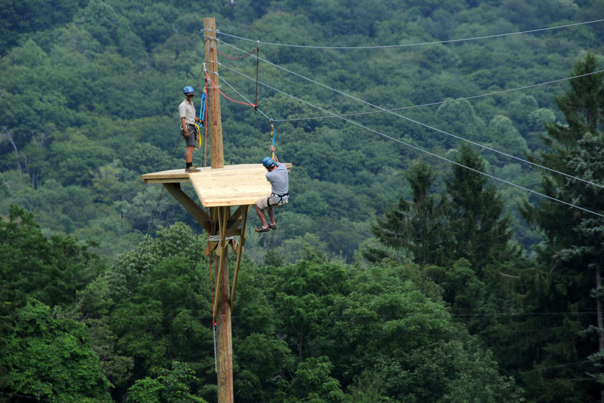 Screaming Hawk Zip Line, Seven Springs Mountain Resort