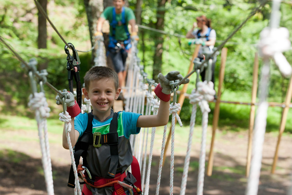 Pocono TreeVentures Aerial Ropes Course and Pocono Zip Racer
