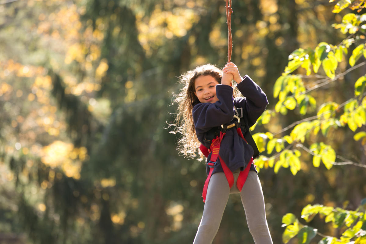 Zip Line Fun at Pocono TreeVentures in the Pocono Mountains