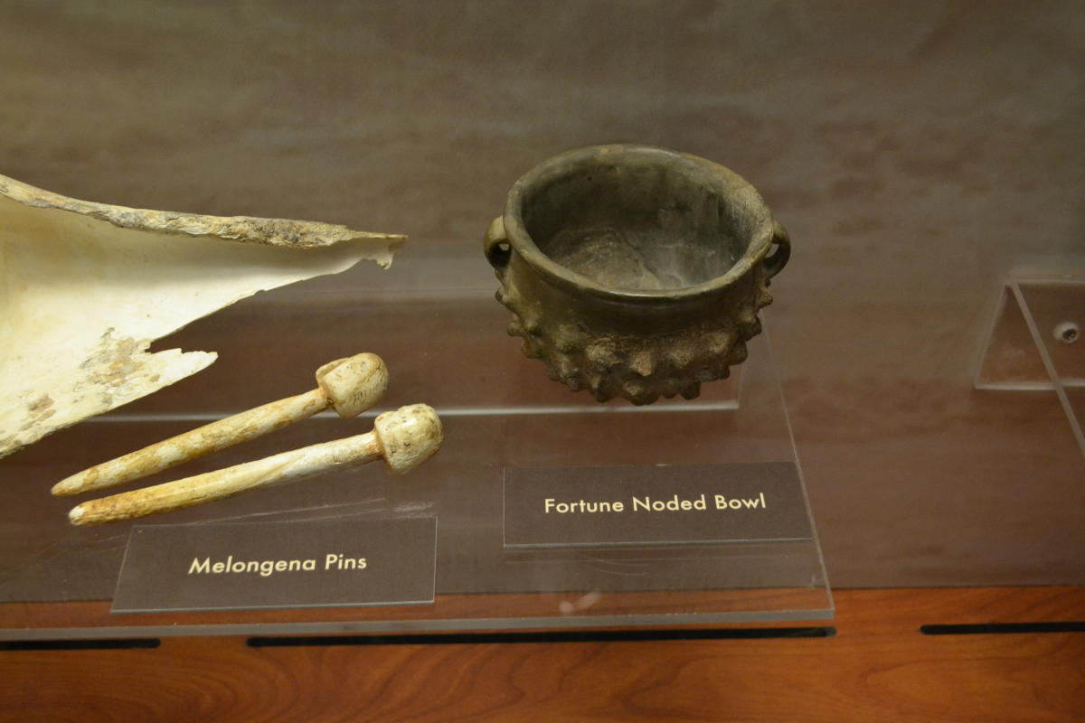 Artifacts from Ocmulgee Mounds National Historical Park