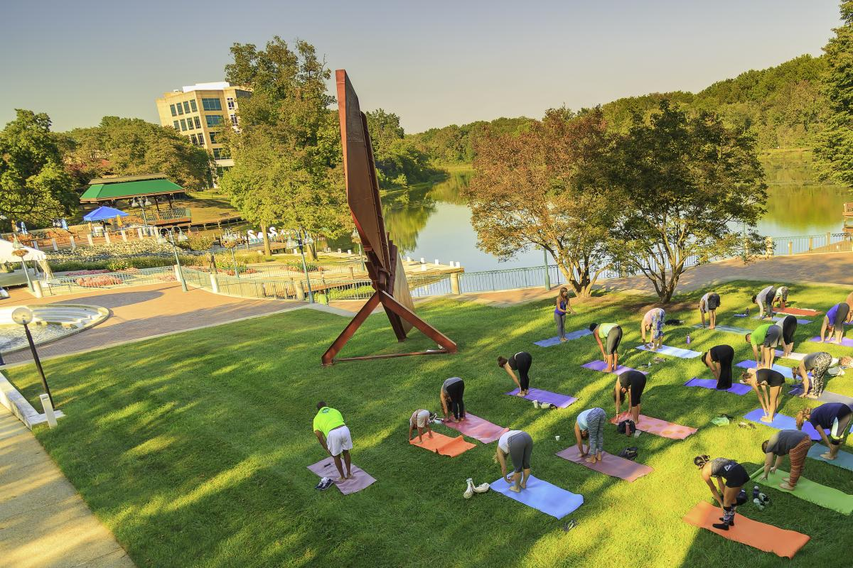 Haven on the Lake free yoga class by Lake Kittamaqundi