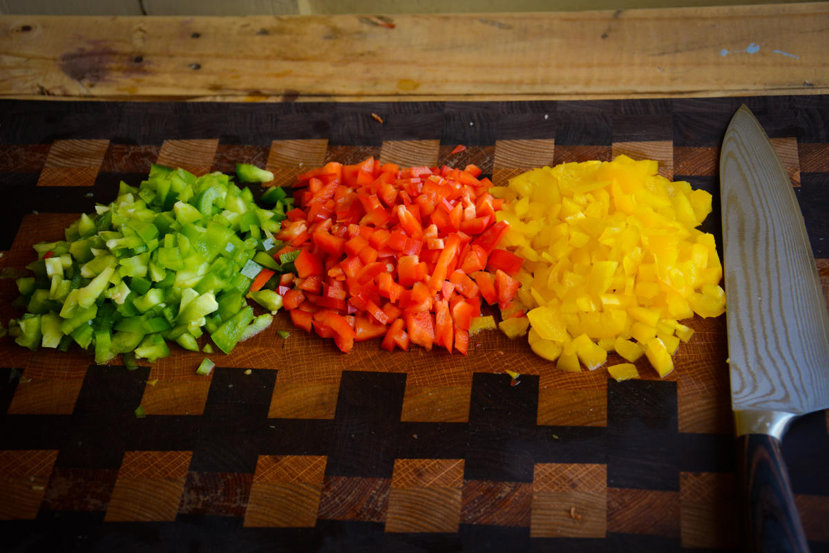 Green, Red & Yellow Bellpeppers