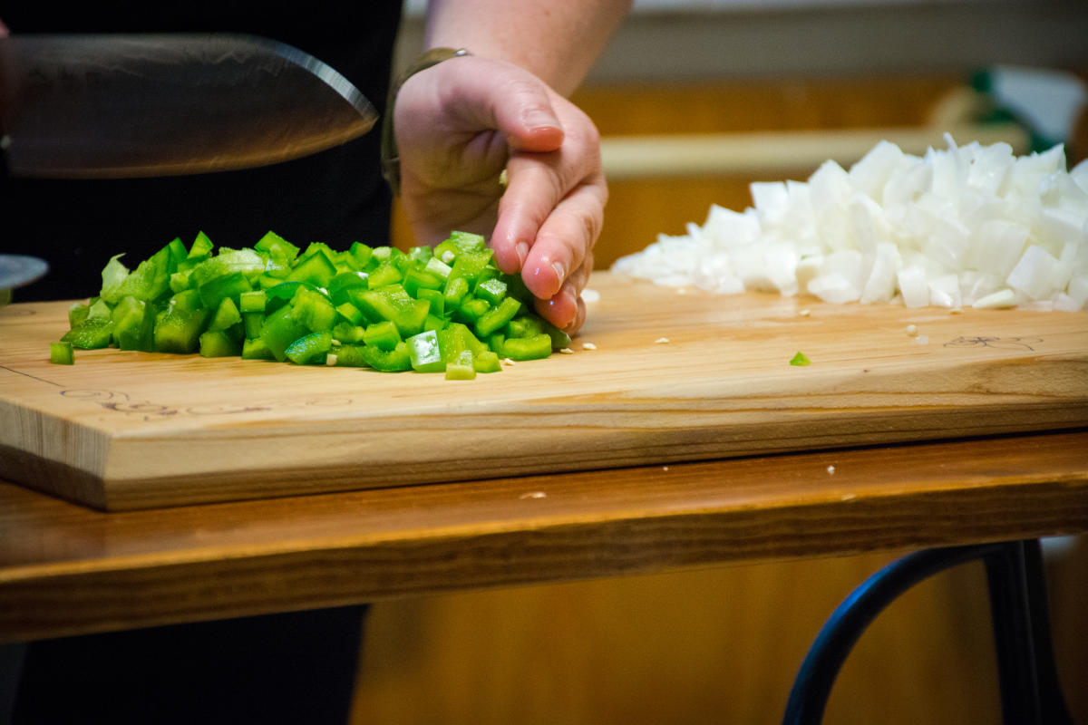 Chopping Vegetables for Gumbo