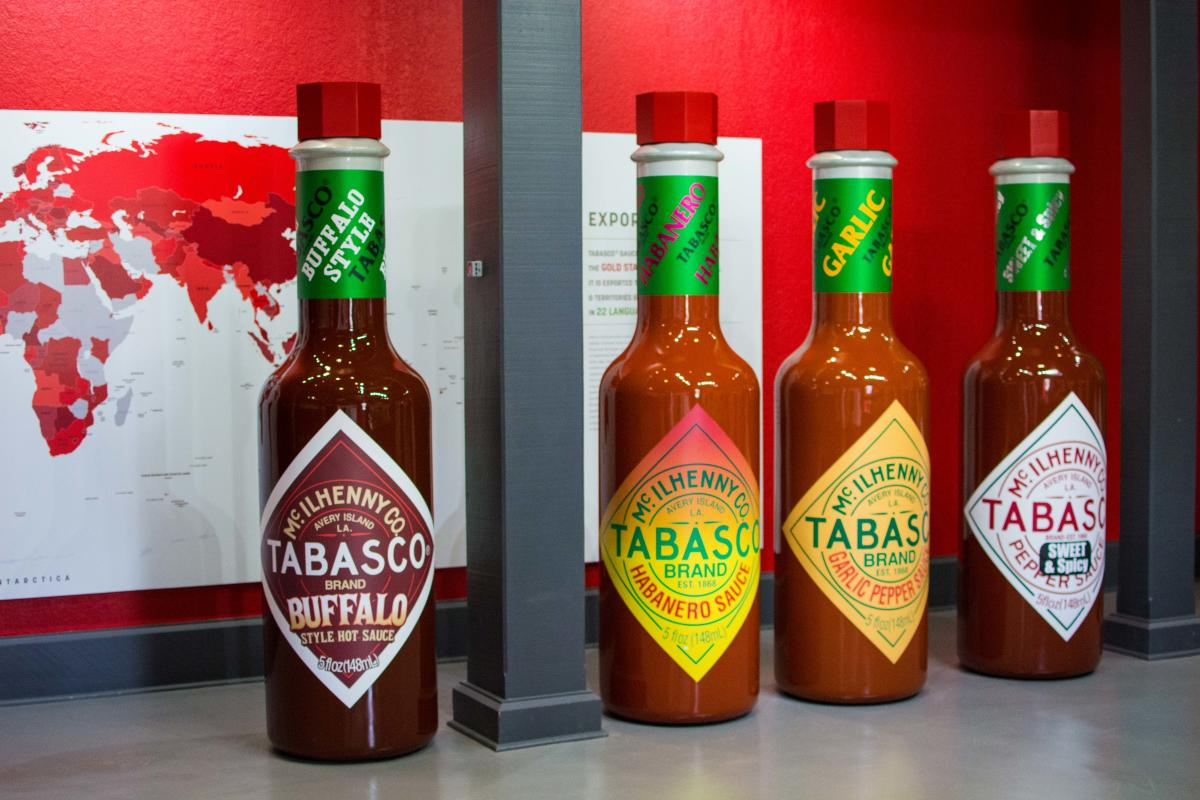 Four different TABASCO flavors