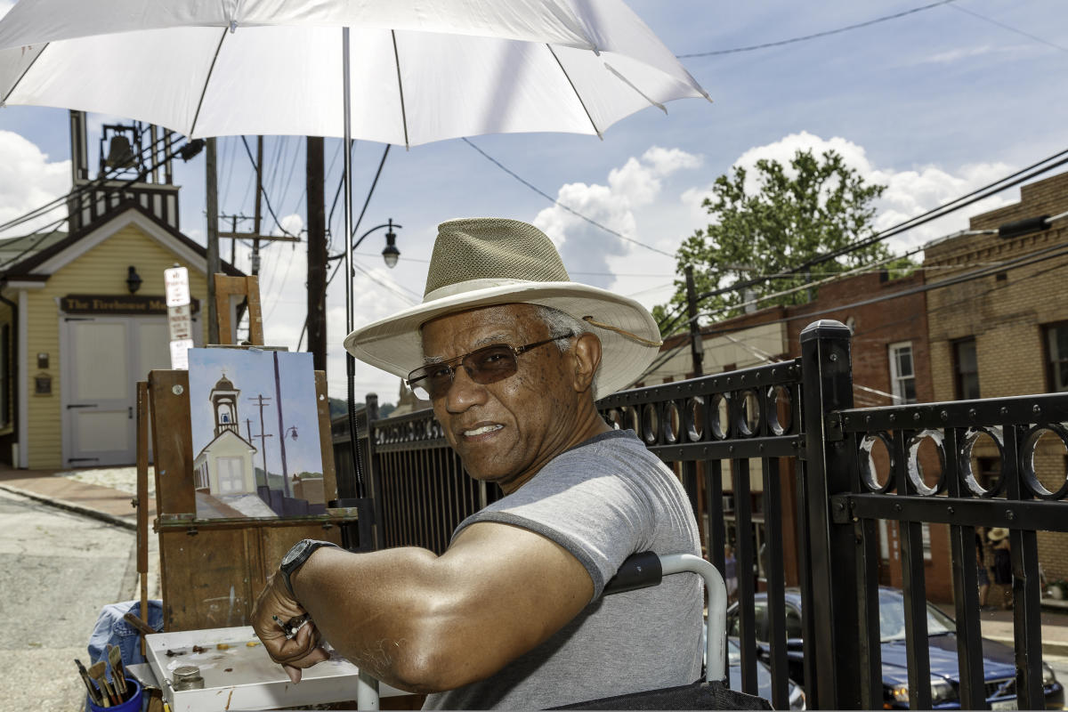 Painting The Firehouse Museum Plein Air