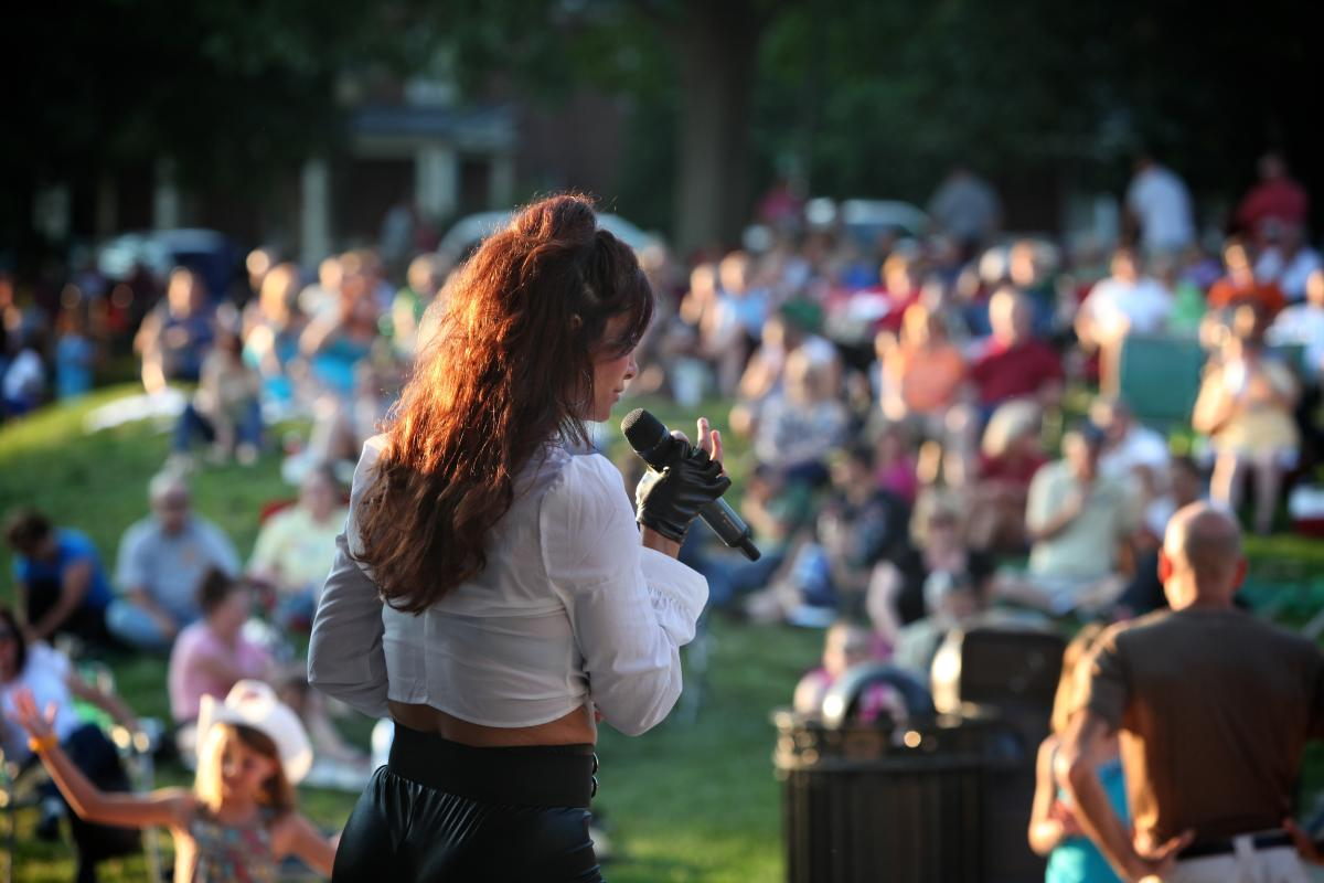 Live music at summer concert in Frederick